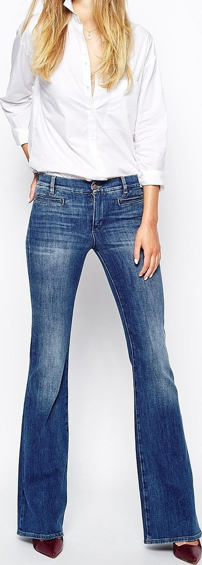 Diesel женские джинсы клеш