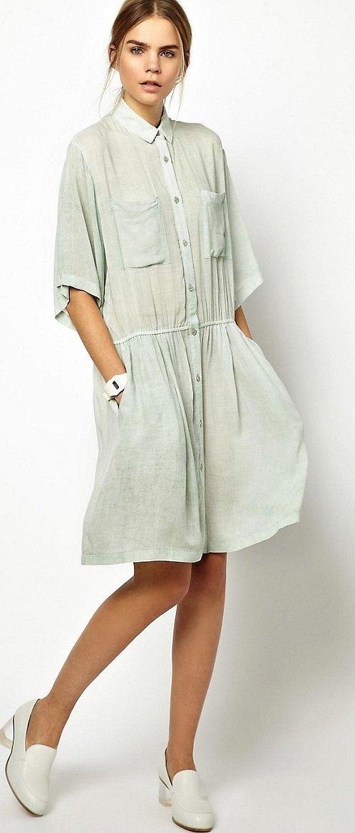 Стильные летние платье рубашка