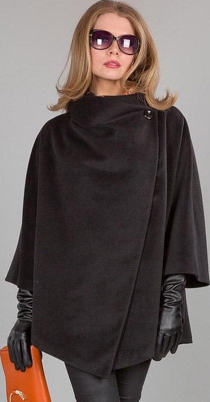 Пальто пончо летучая мышь
