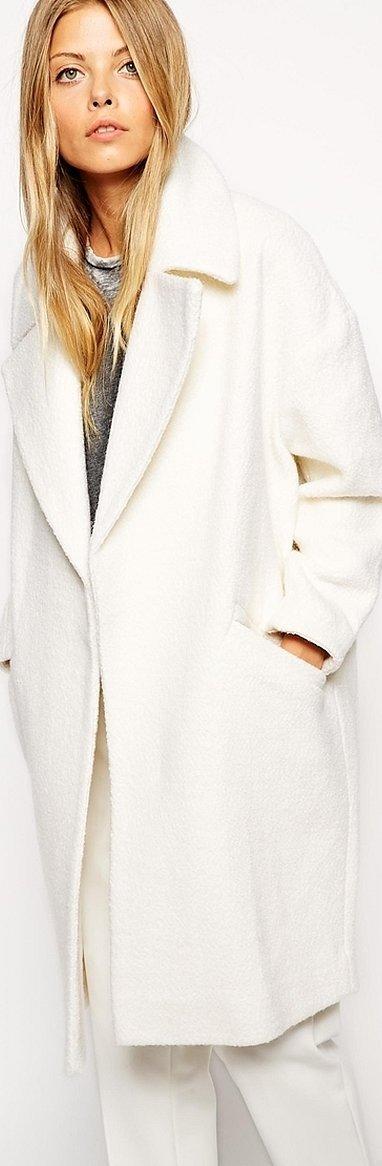 Свободное пальто женское