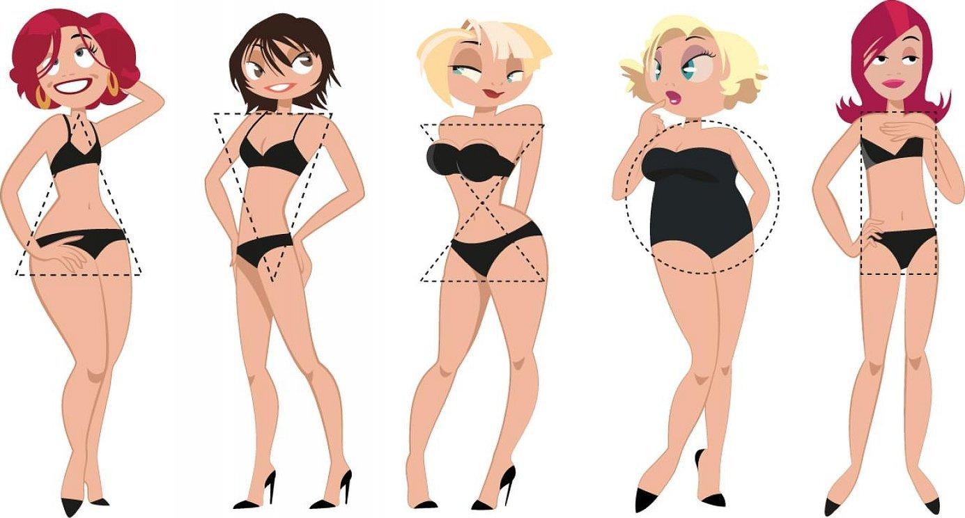 Разные типы фигур девушек