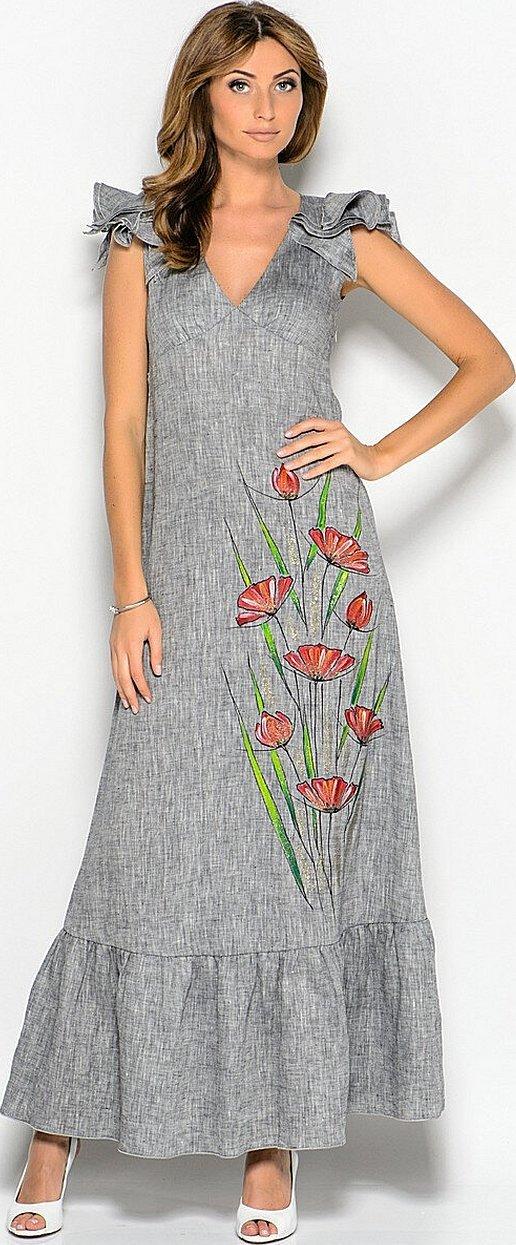Платья и сарафаны из льна