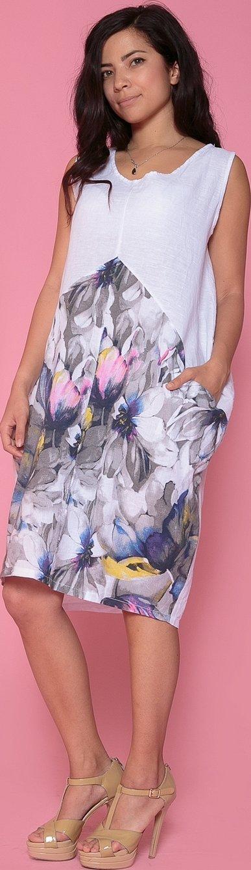 Платья с цветочным принтом прямого кроя