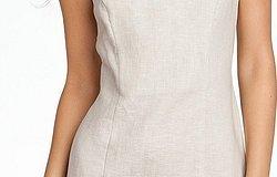Фасоны и особенности платьев из льна