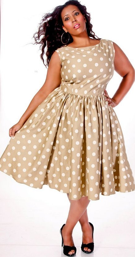 Платья в стиле ретро для полных девушек