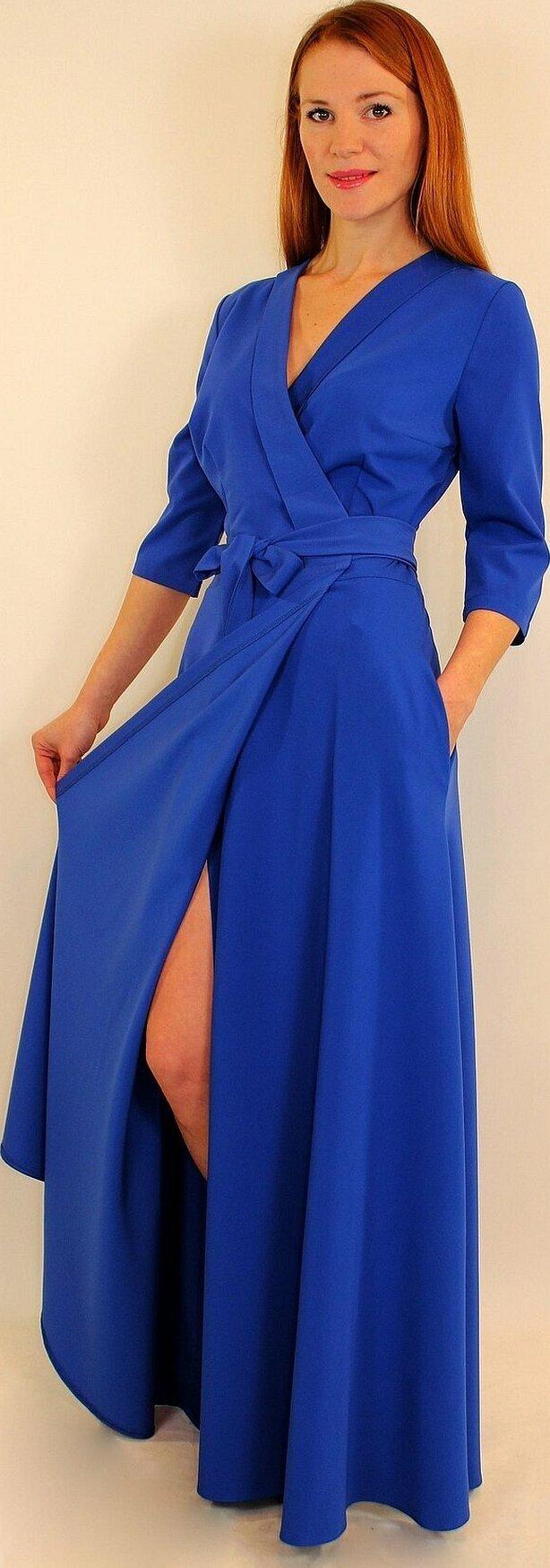 Платье с запахом в пол