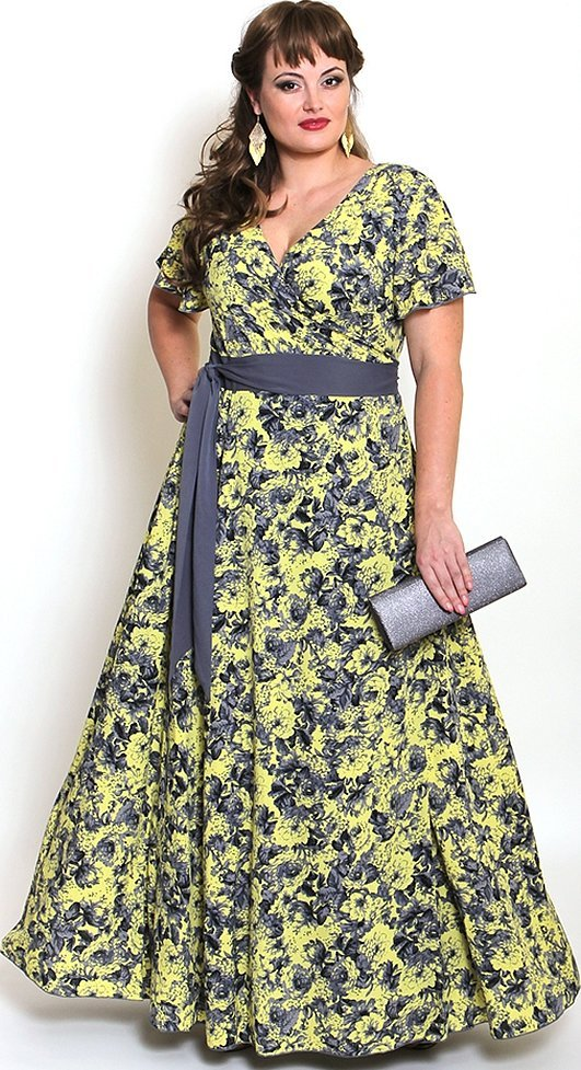 Женские летние платья в пол для полных