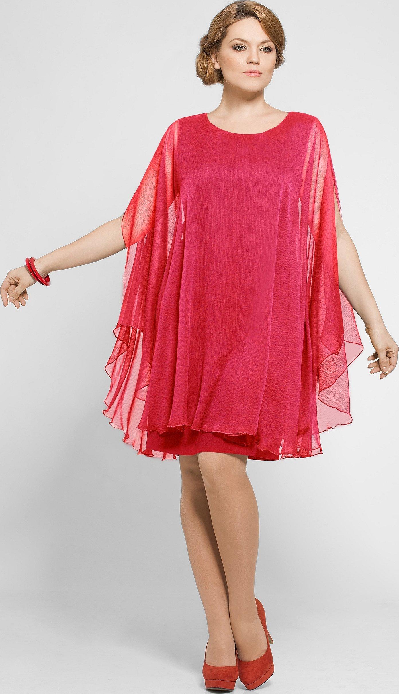 Летние платья с шифона для полных