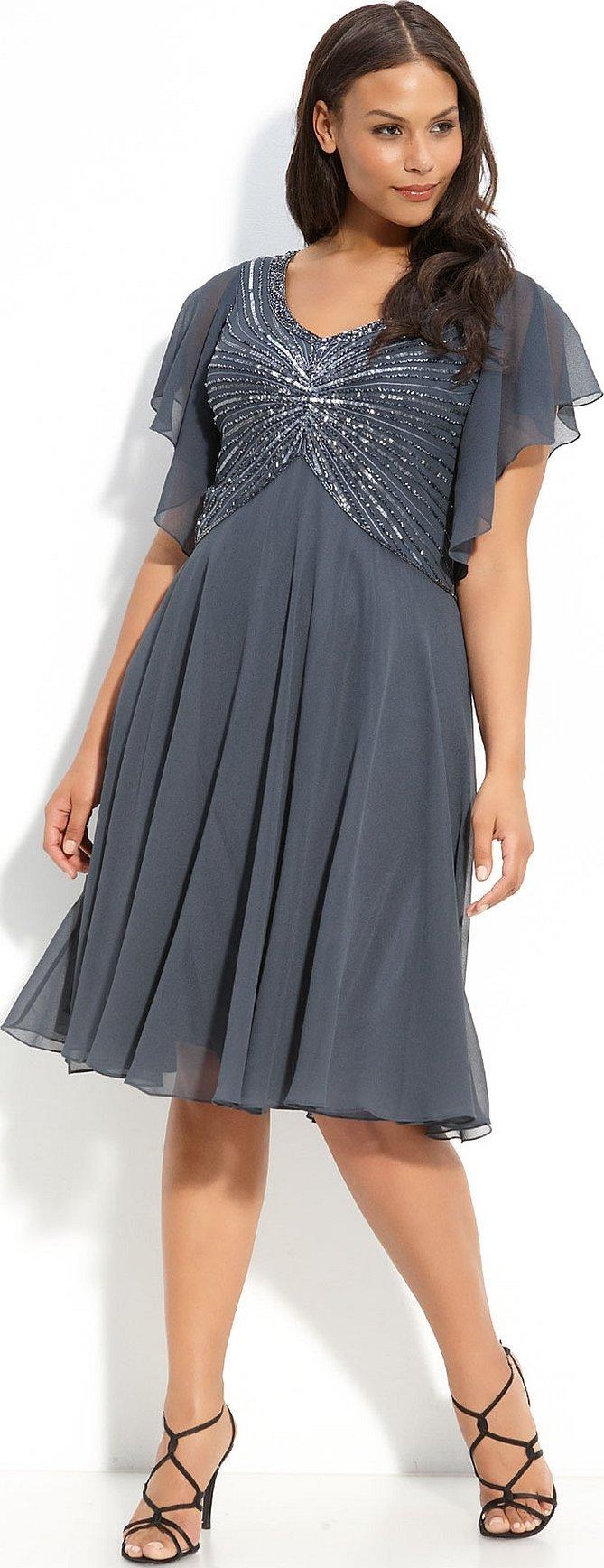 Лёгкое шифоновое платье для полных