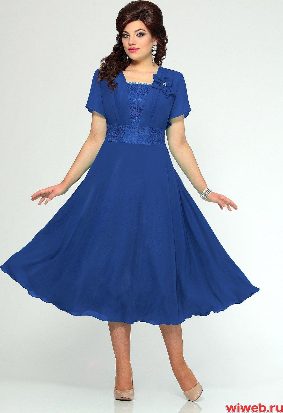Нарядные платья mira fashion синее