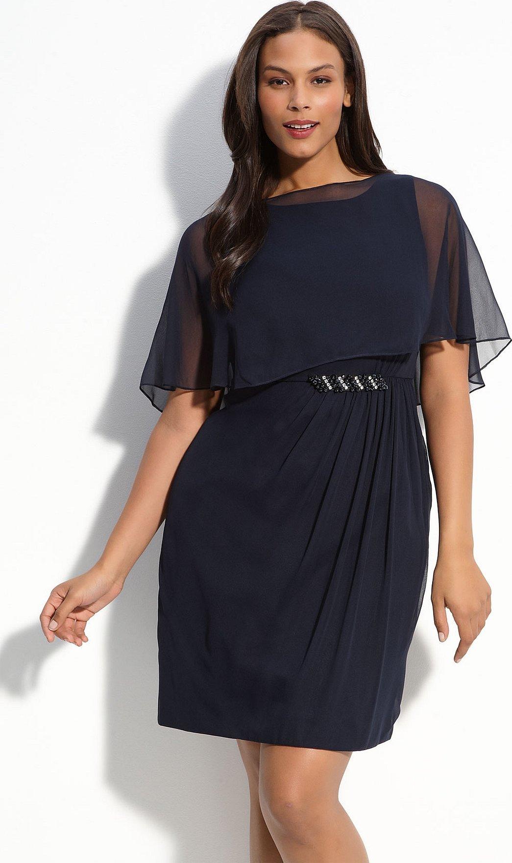 Шифоновые платья для полных девушек