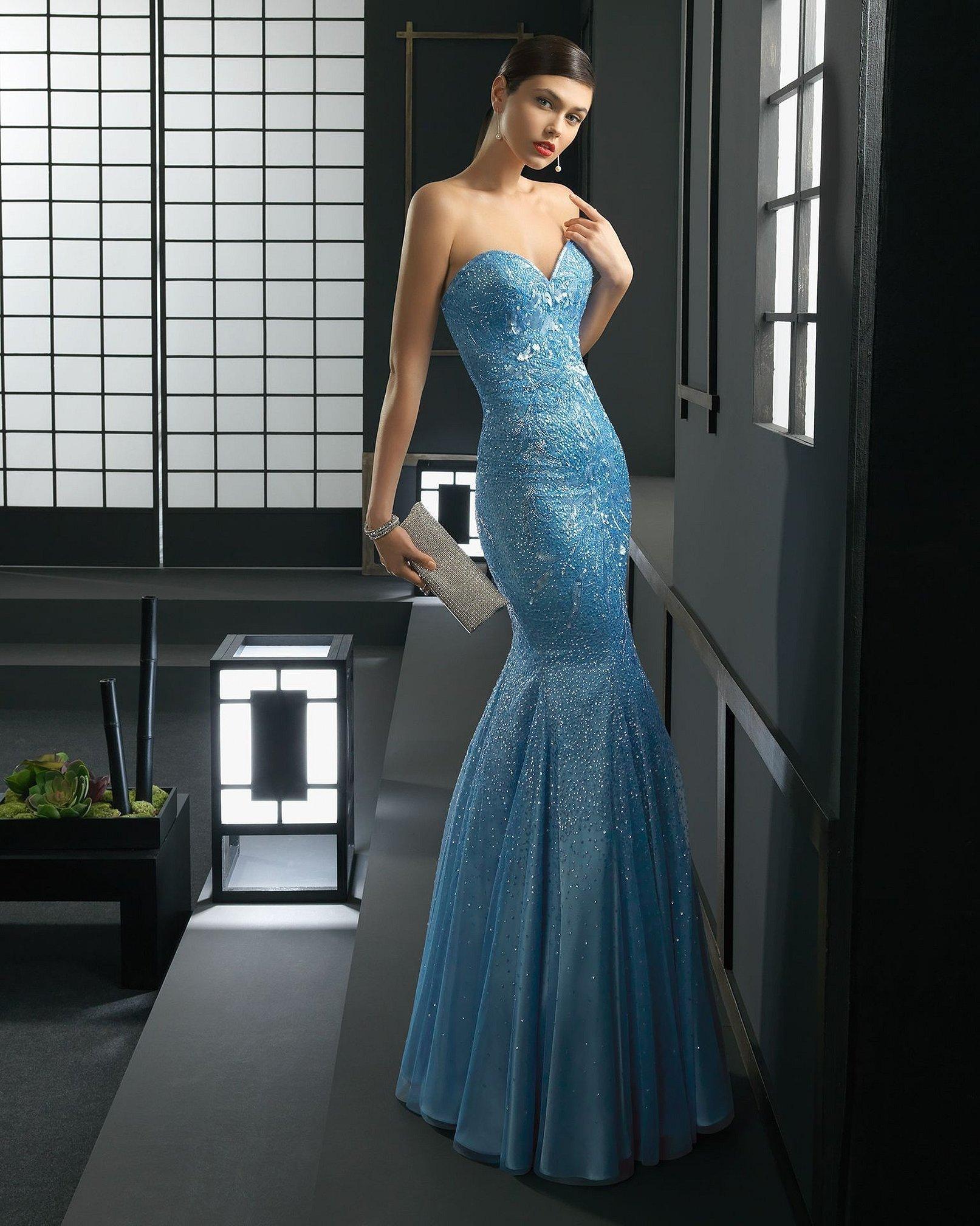 Вечернее платье фасон русалка
