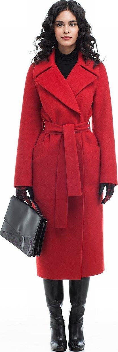 Красное пальто женское