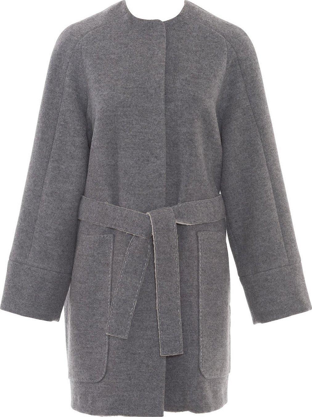 Пальто женское демисезонное серое