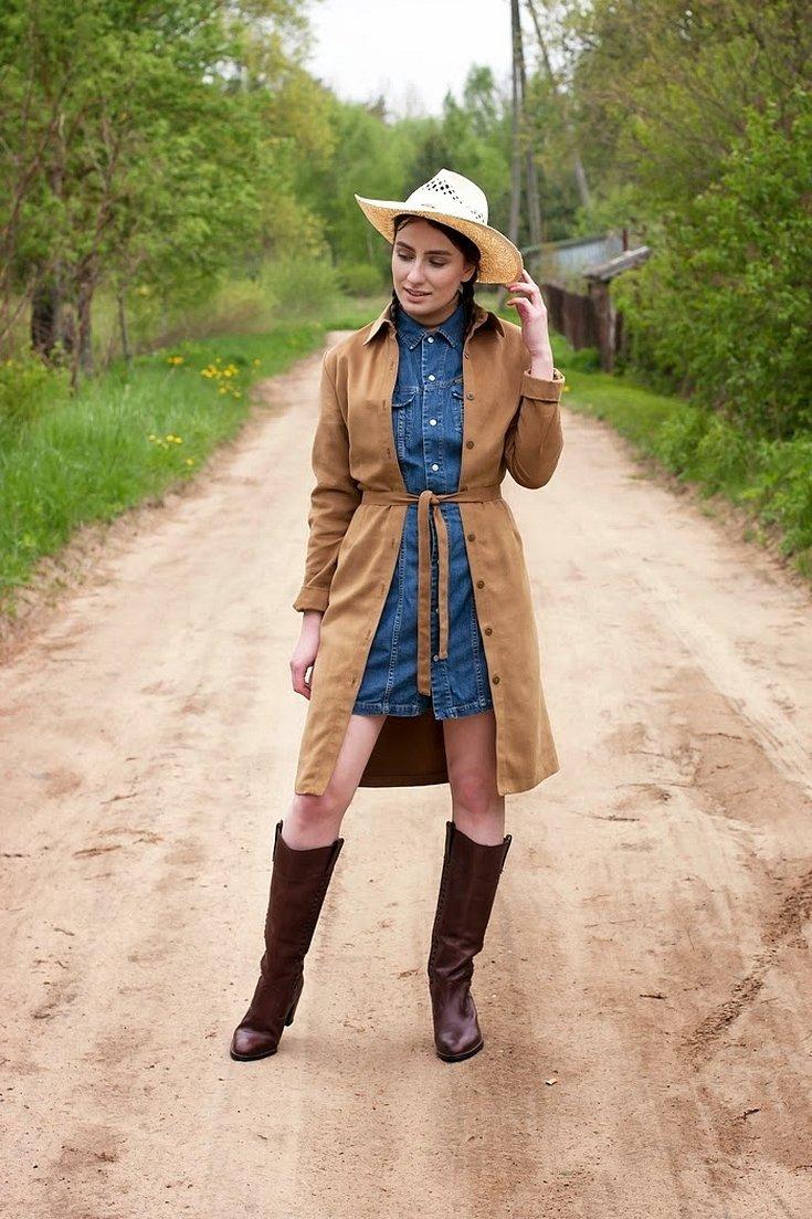 Ковбойский кантри стиль одежды осень