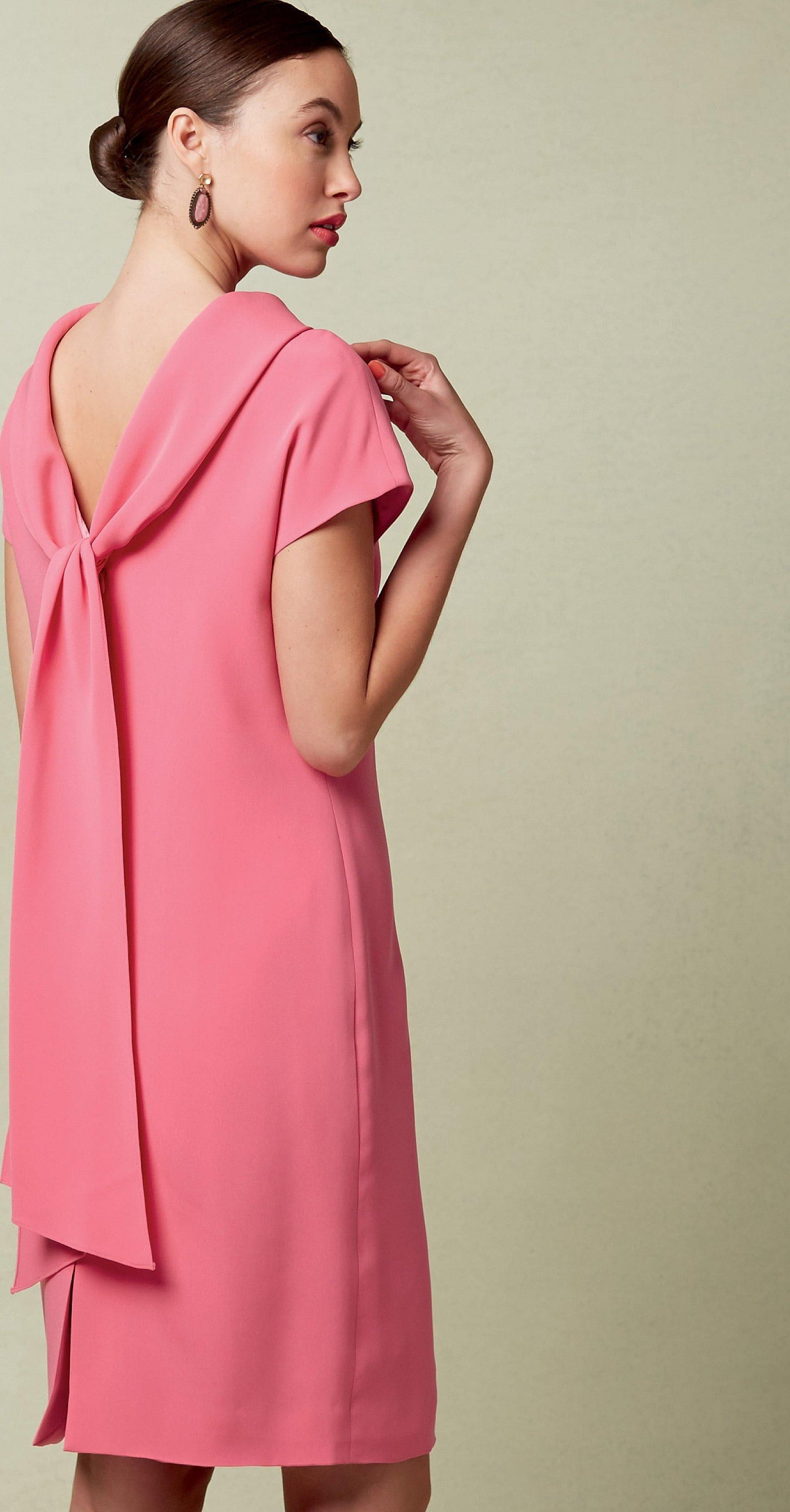 Платье свободного кроя креп