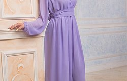 Фасоны платьев в пол с длинным рукавом