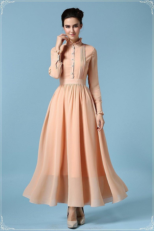 Шифоновое платья винтажные длинные