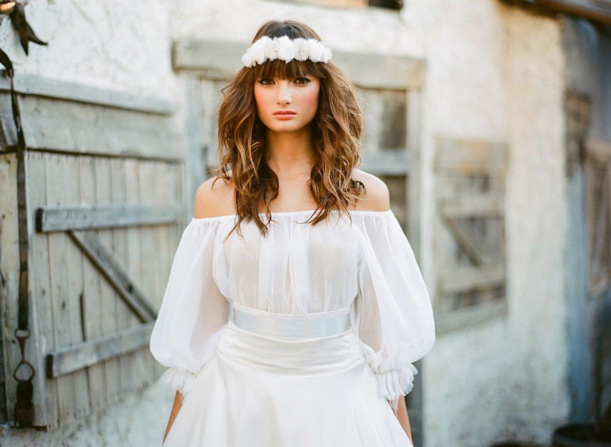 Свадебные платья в деревенском стиле