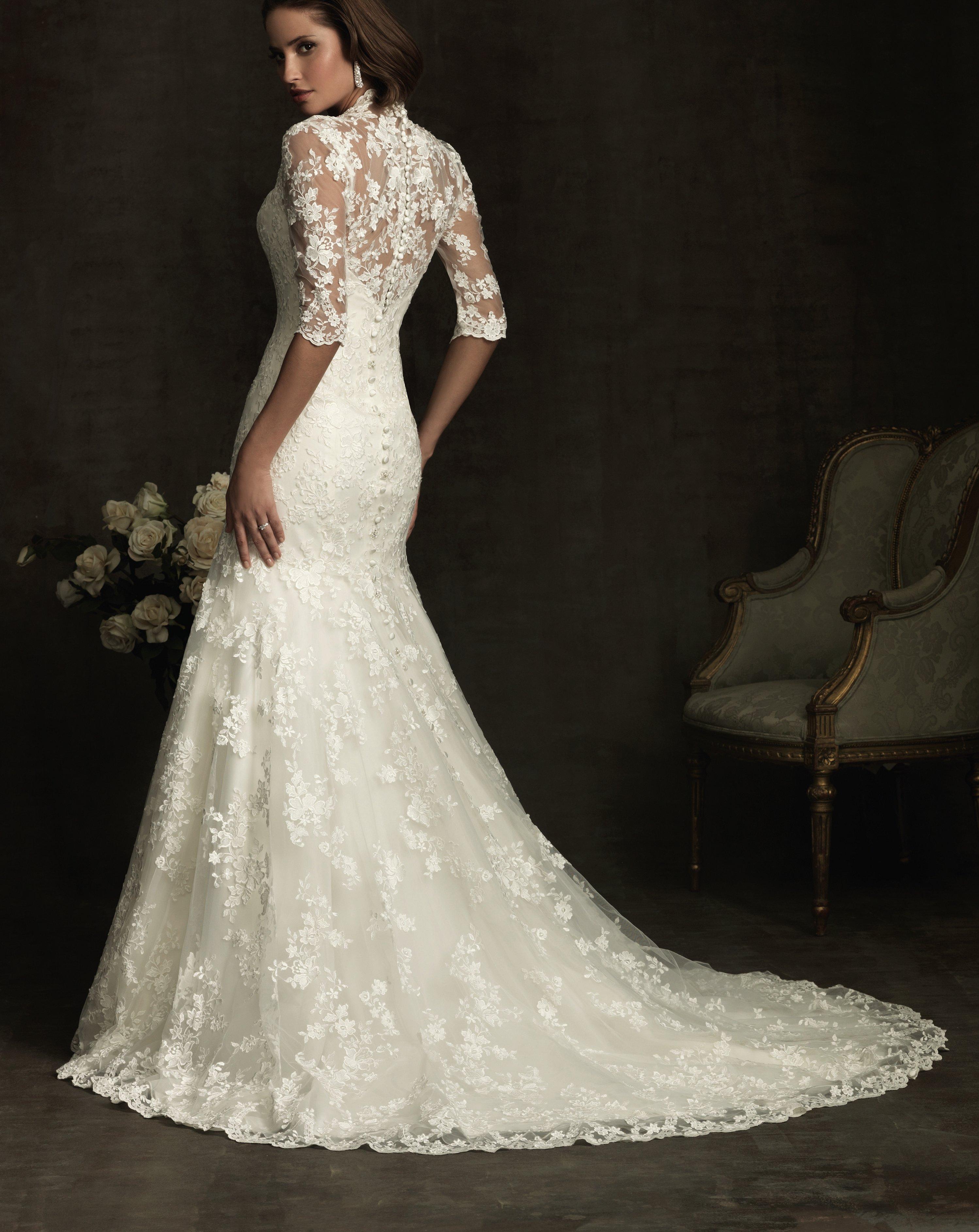 Свадебное платье рыбка кружево