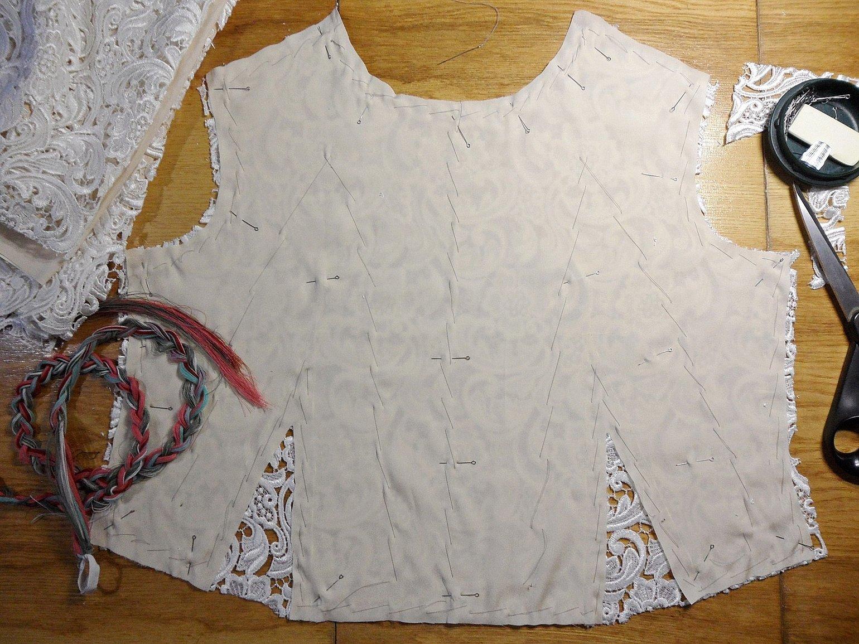 Технология пошива платья из гипюра на подкладке