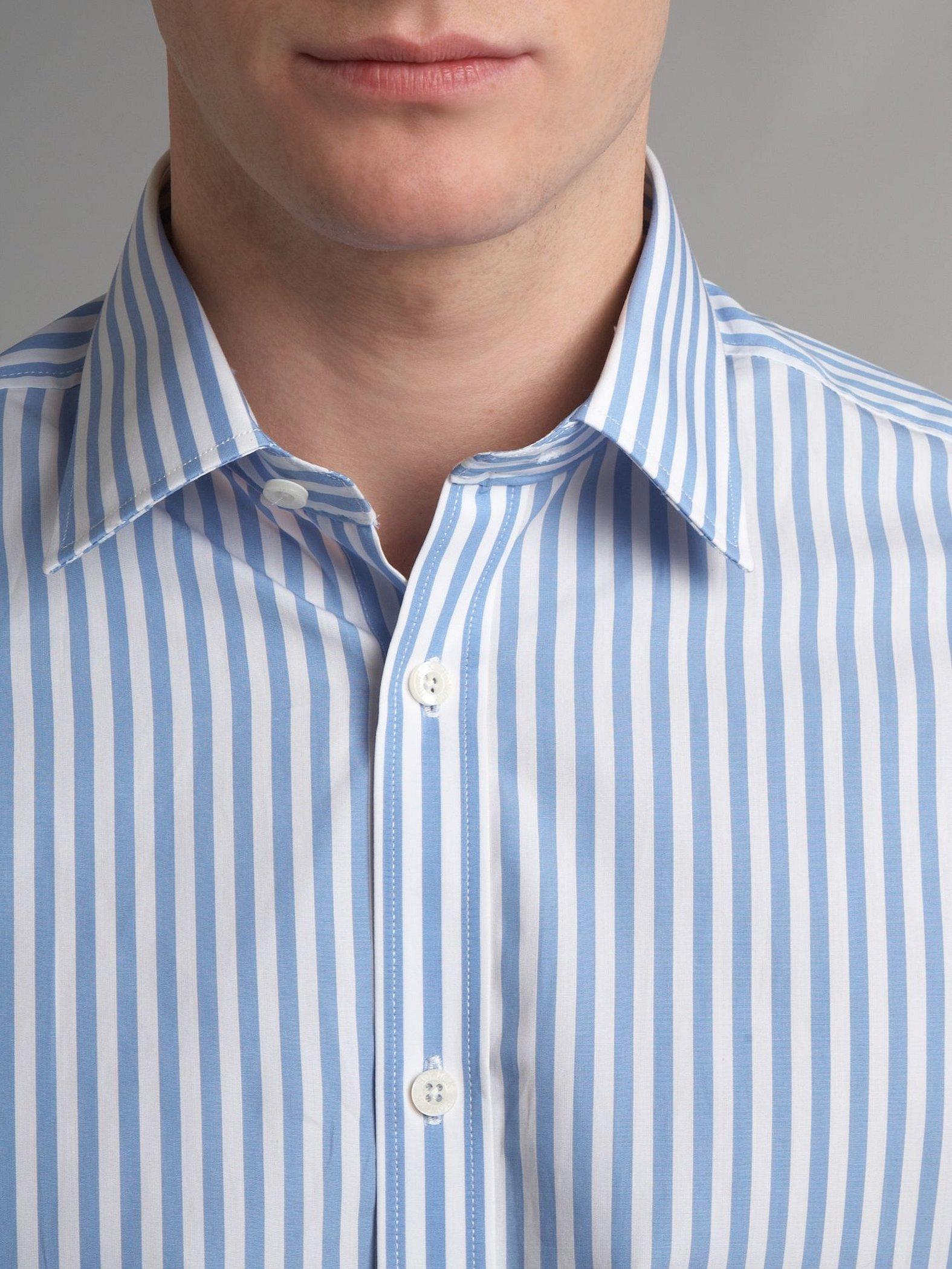 Мужские рубашки в полоску