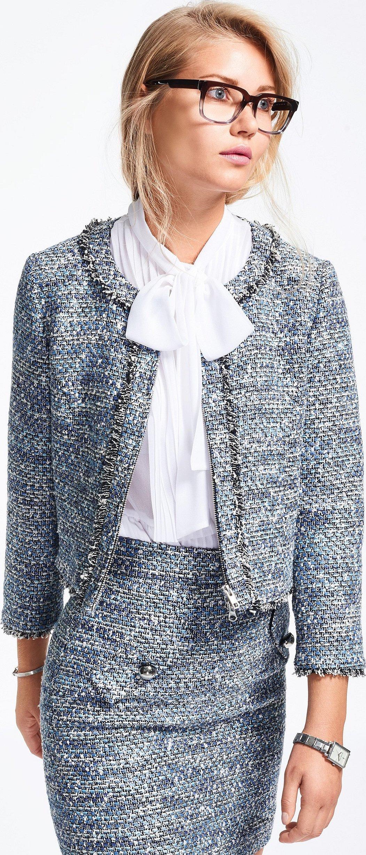 Блузка под жакет в стиле шанель