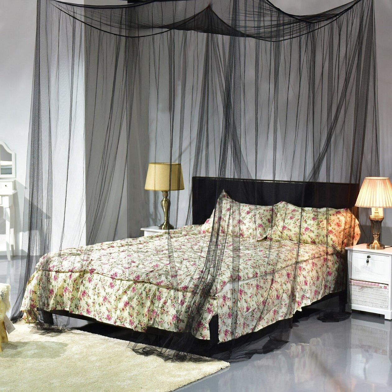 Круглая кровать с балдахином двуспальная