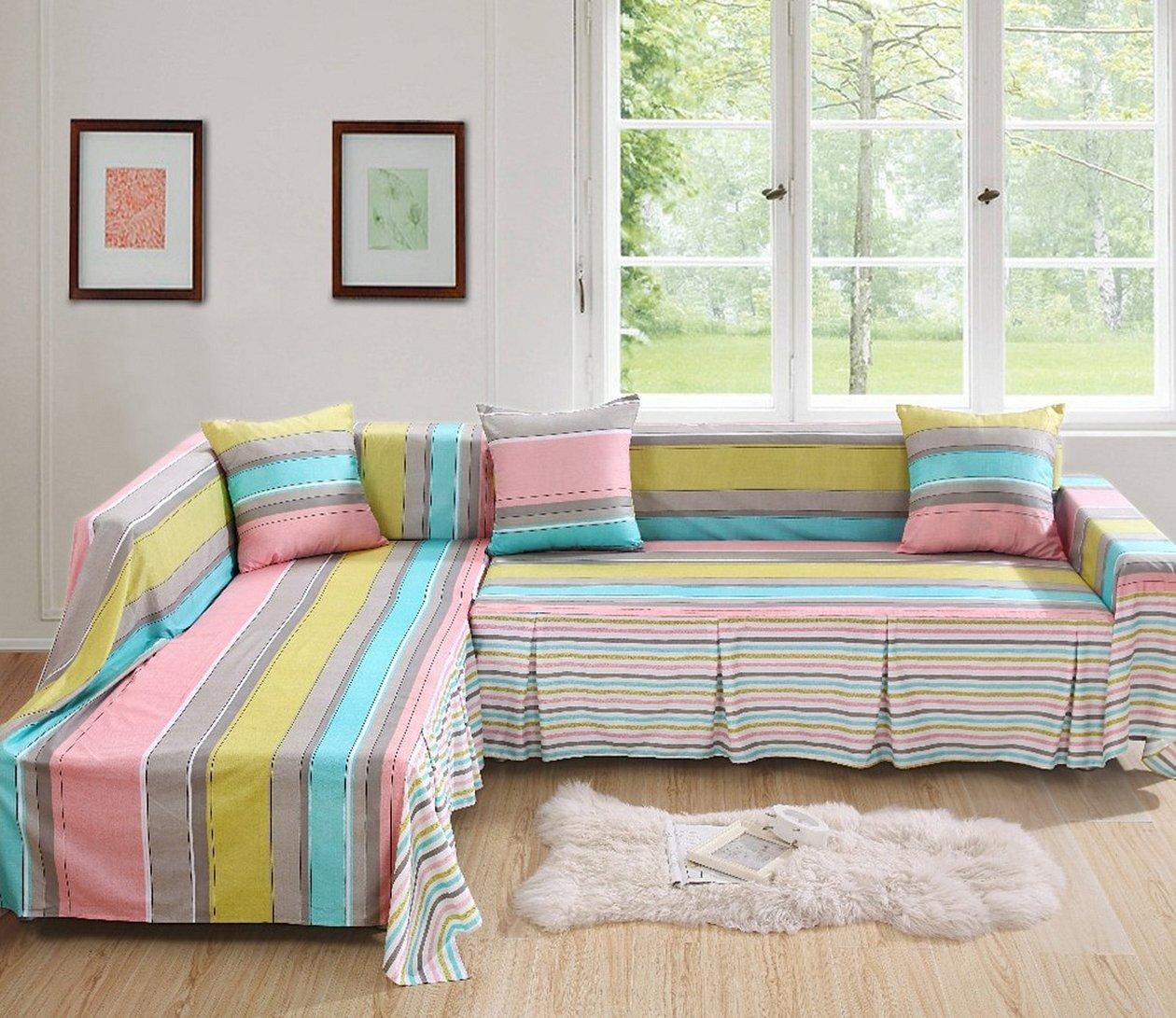 Чехол на подушки дивана в стиле пэчворк