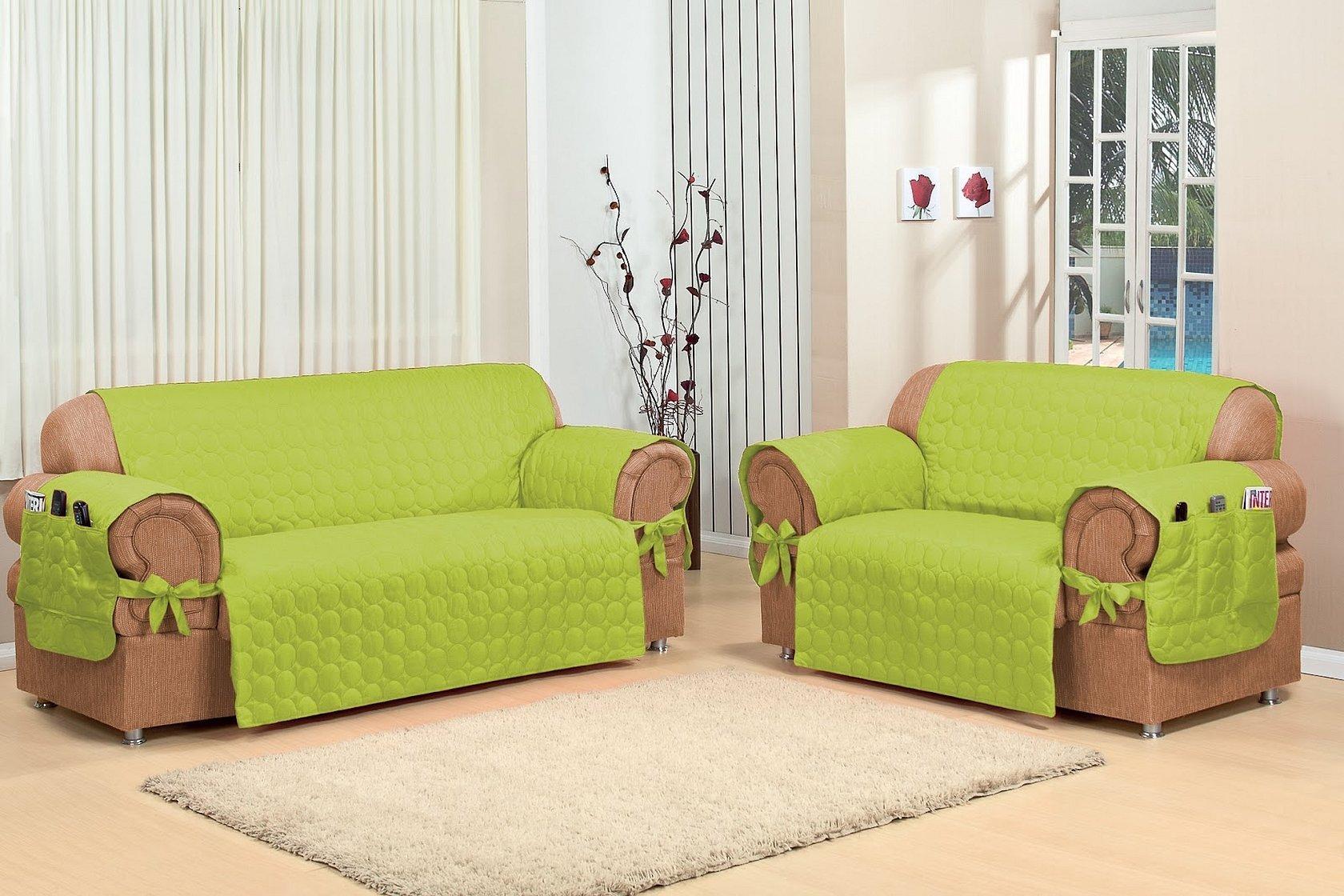 Накидки на детский диван зеленые