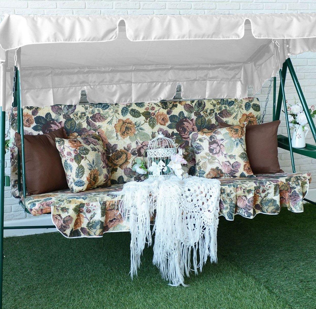Матрасы с подушками на садовые качели