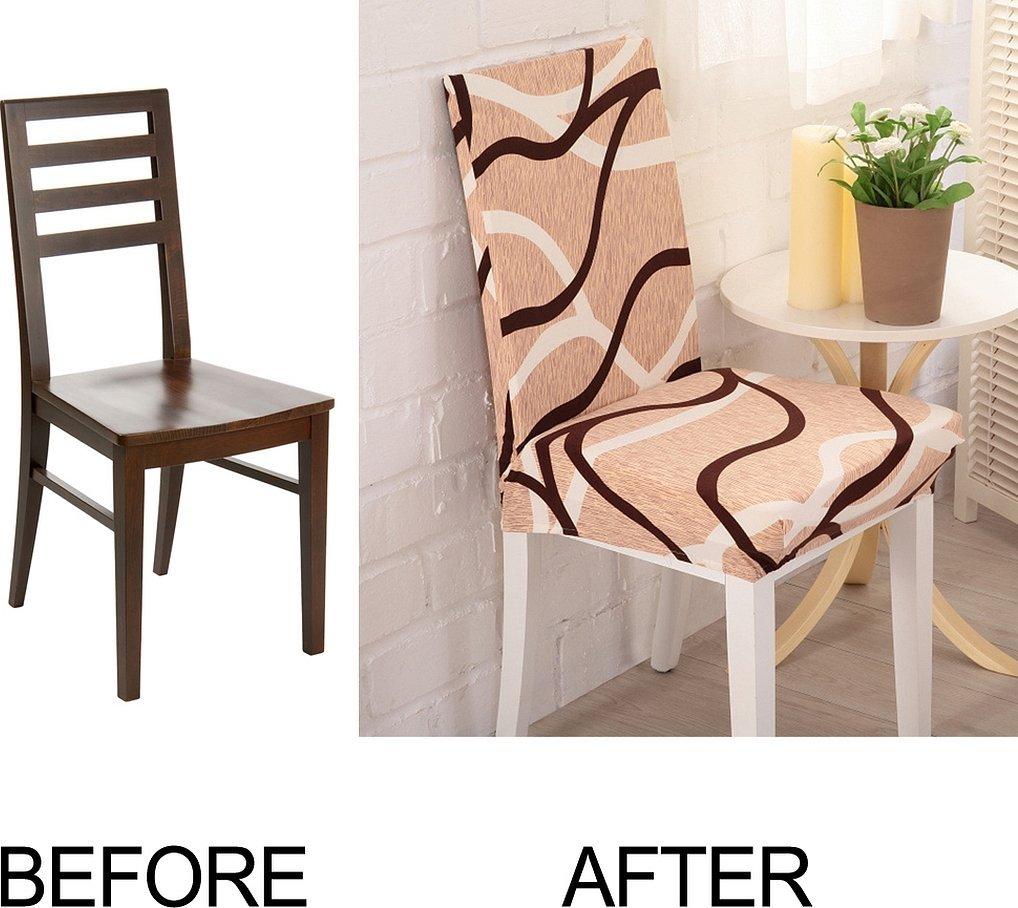 Чехлы на кухонные стулья со спинкой