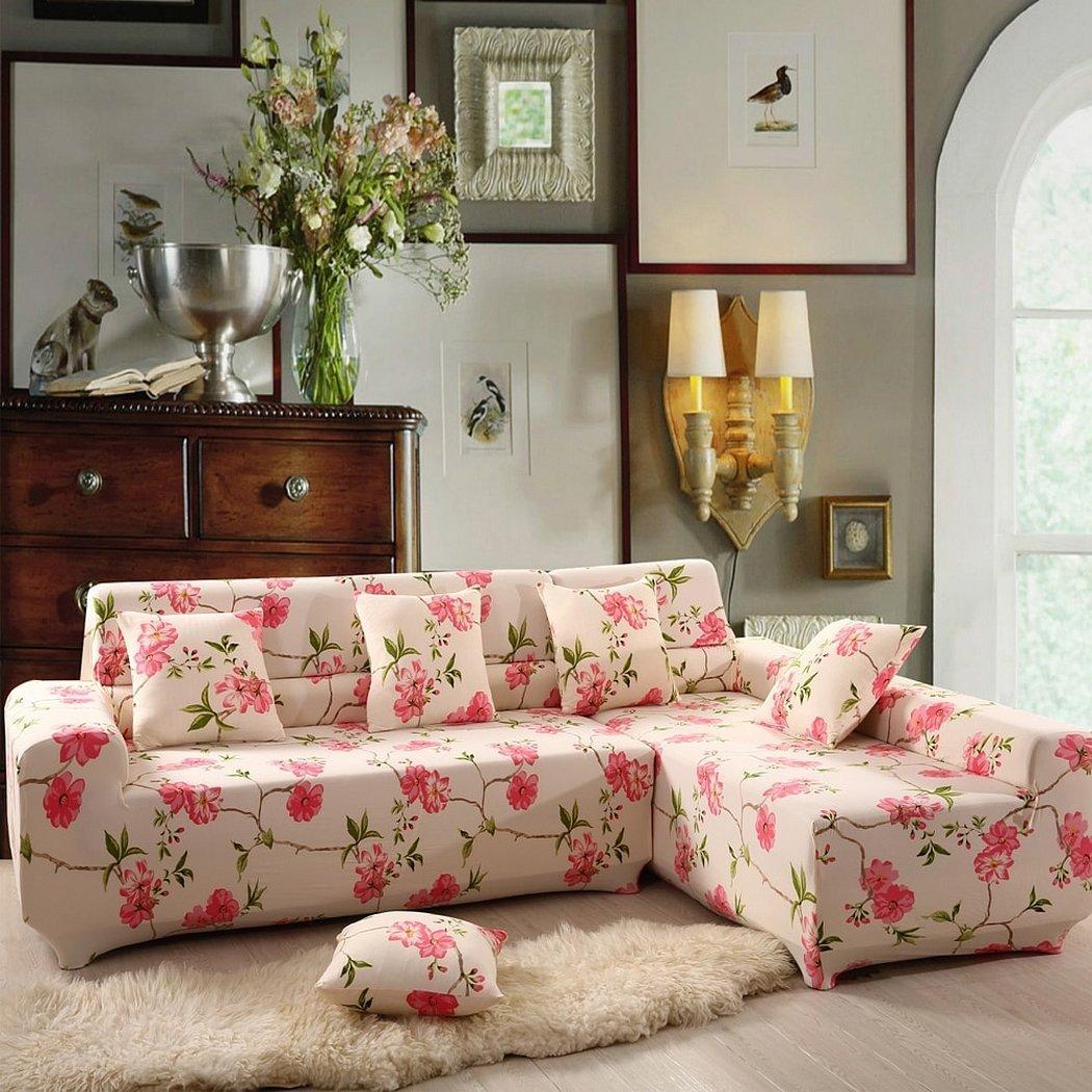 Чехлы на диван с цветочным принтом
