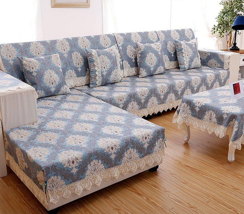Жаккардовые накидки на диван