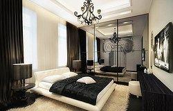 Черно-белые идеи для оформления вашей спальни