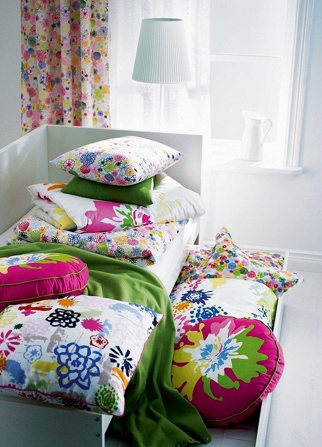 Весенний интерьер постельное белье