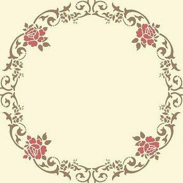 Растительный орнамент по кругу трафарет розетка прованс