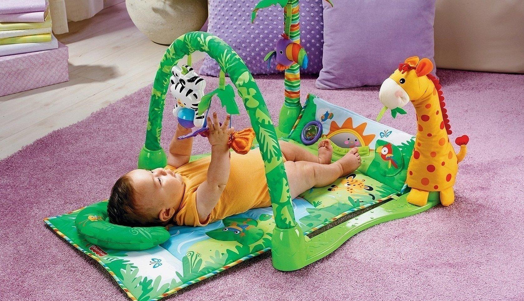 Fisher price развивающий коврик с жирафом