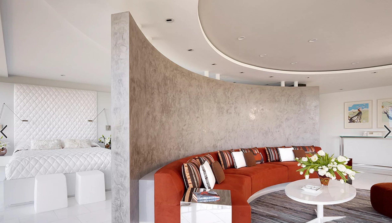 Декоративная штукатурка гостиная интерьер