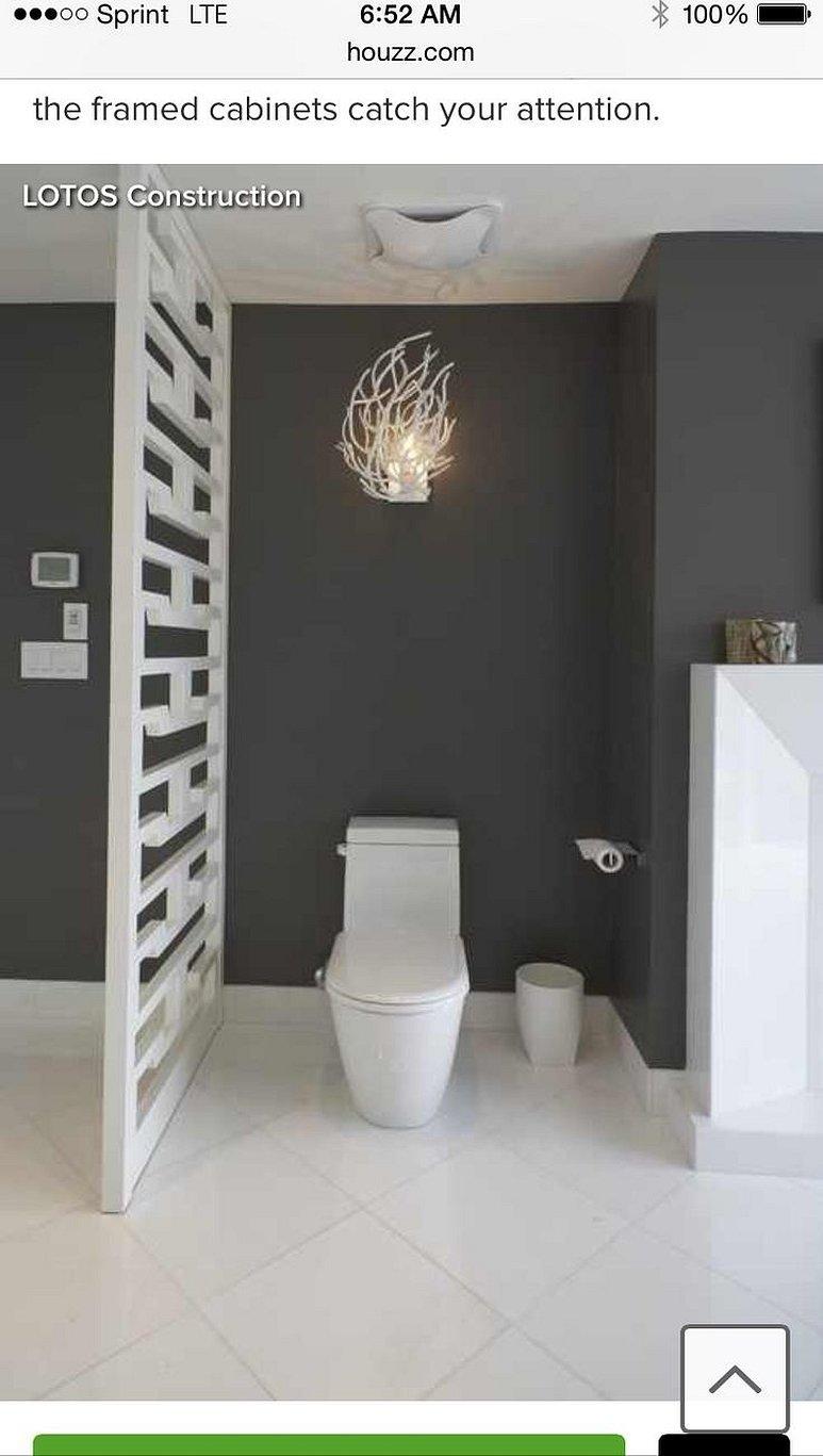 Интерьер туалета в стиле минимализм