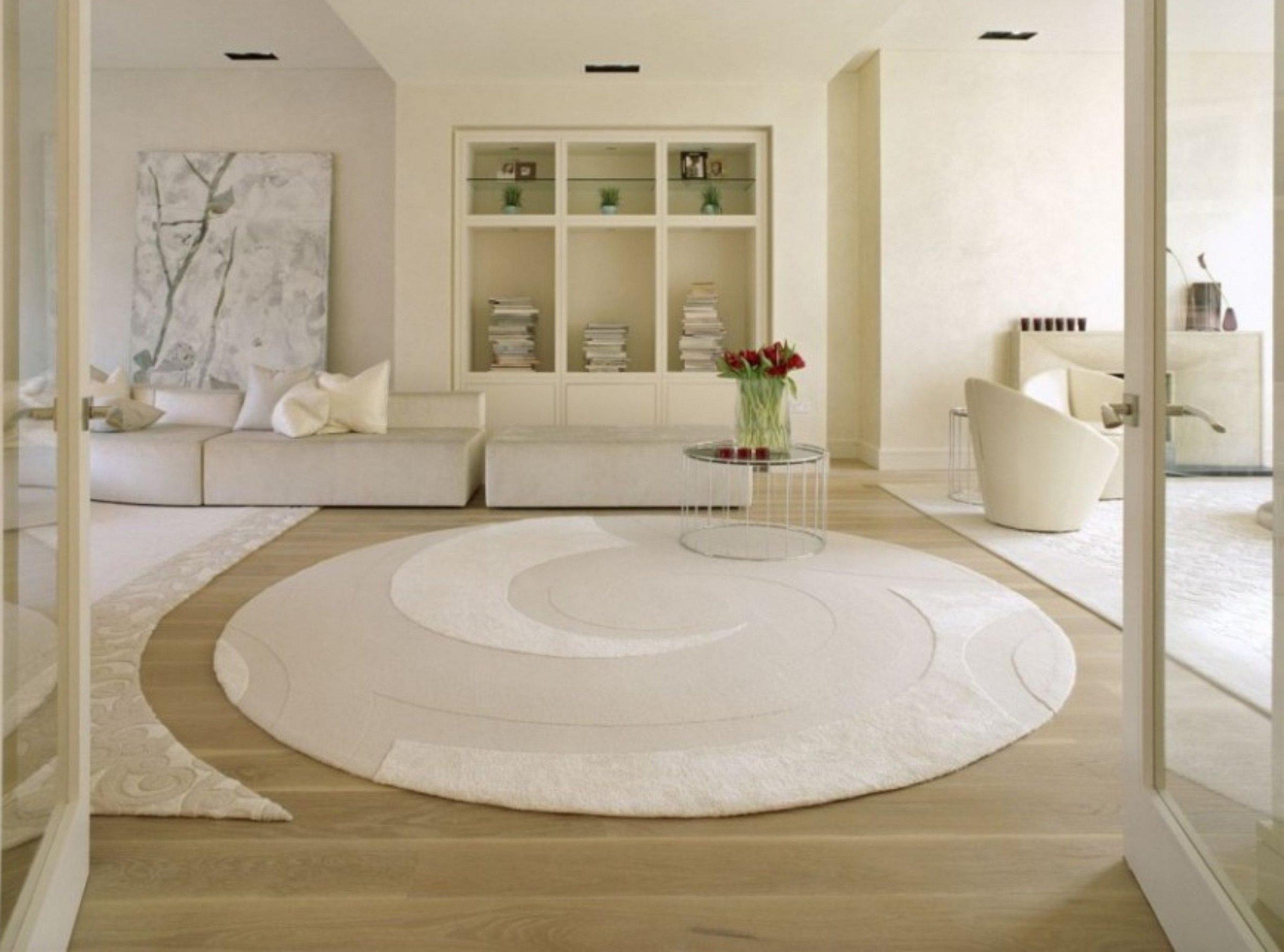 Овальные и круглые ковры в интерьере