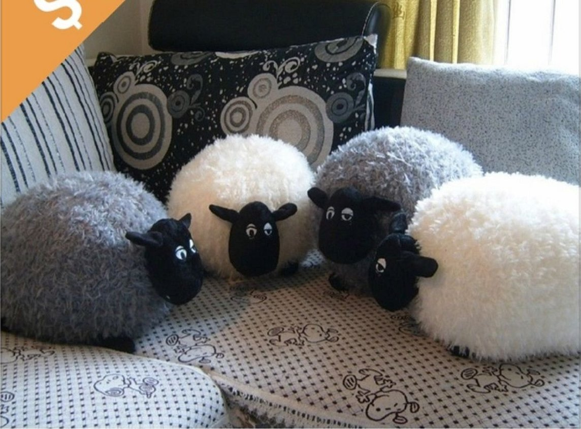 Плюшевые игрушки подушки барашек