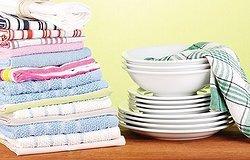 Как стирать кухонные полотенца с растительным маслом и не только? Лучшие народные методы