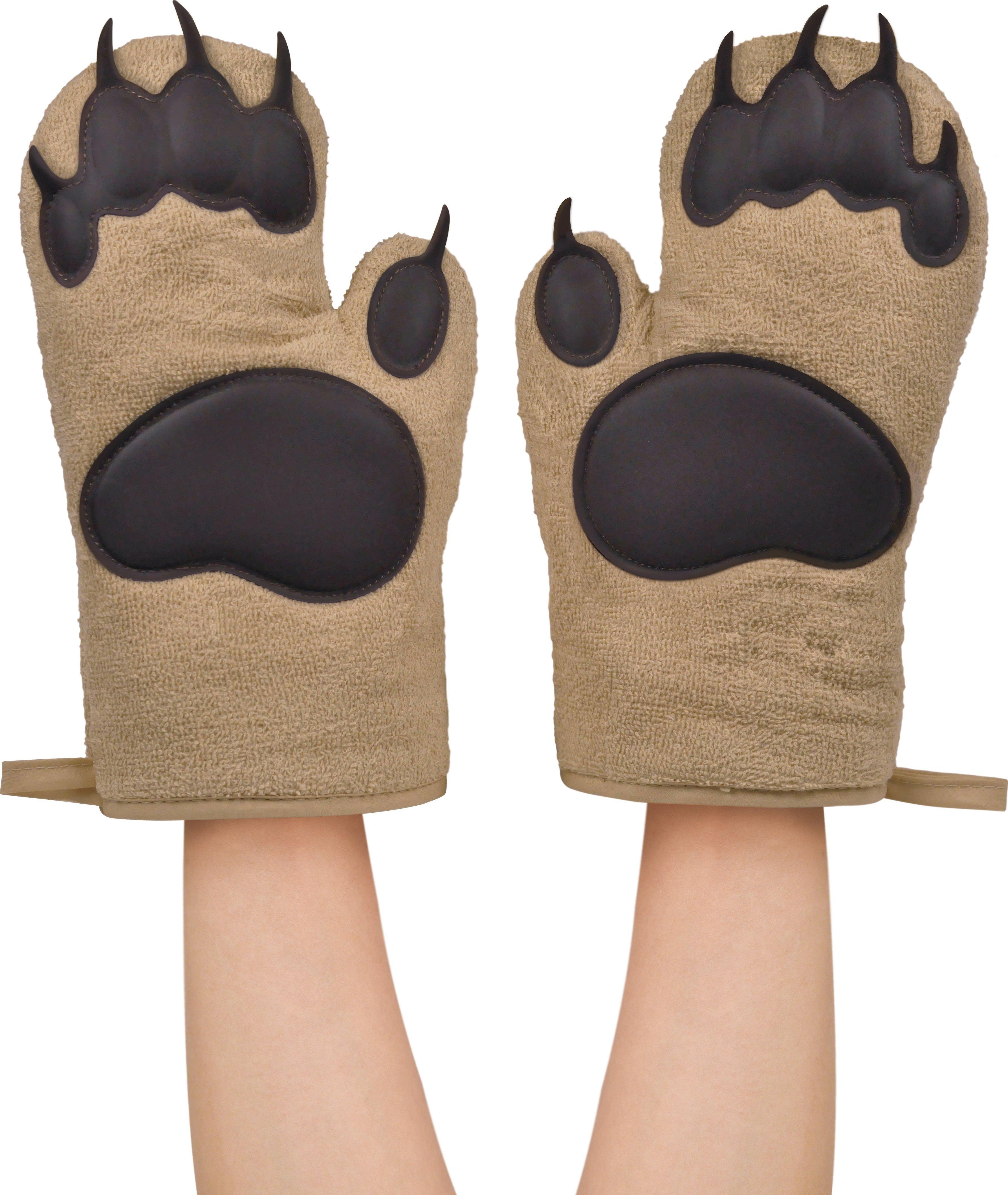 Кухонные рукавички медвежьи лапы