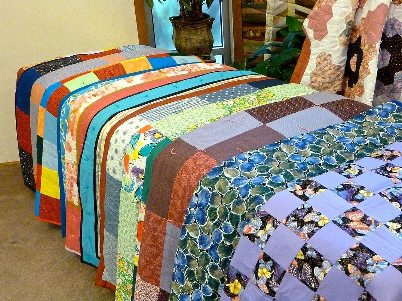 Одеяло из крэйзи пэчворка