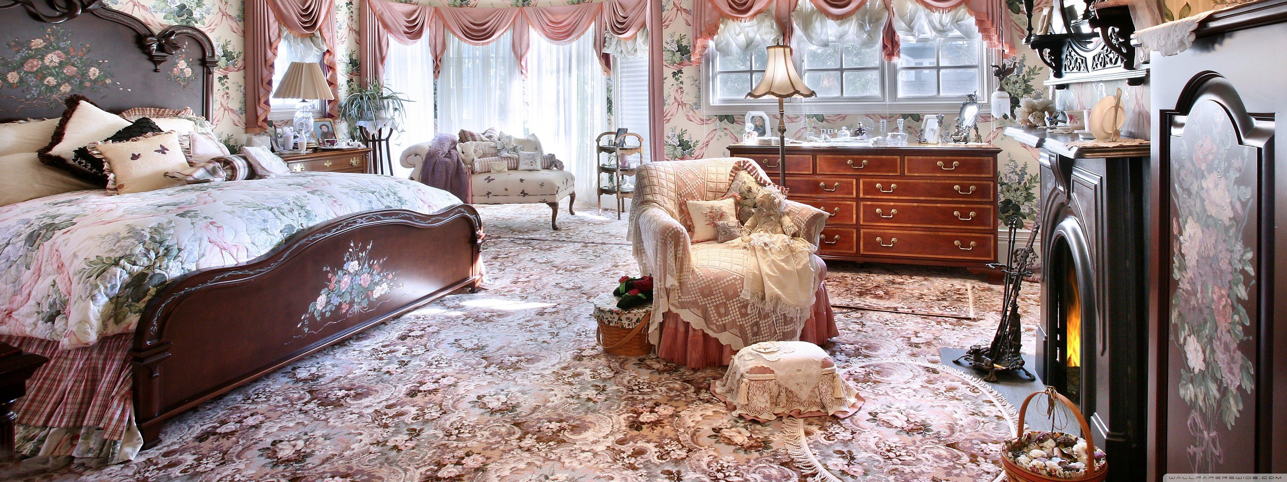 Красивые спальни в стиле барокко