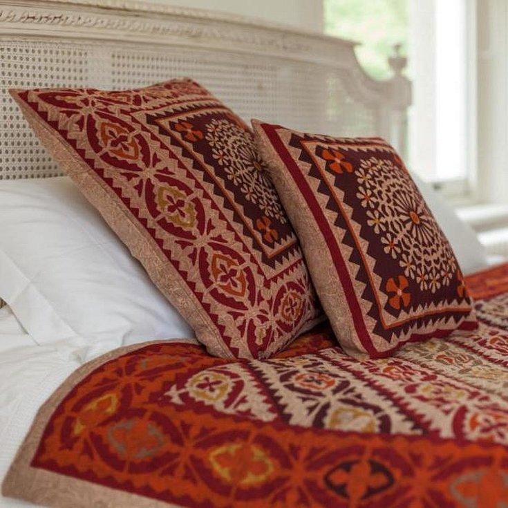 Вышивка крестом подушка в марокканском стиле