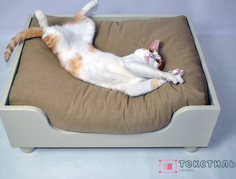 Лежак для кошки своими из дерева