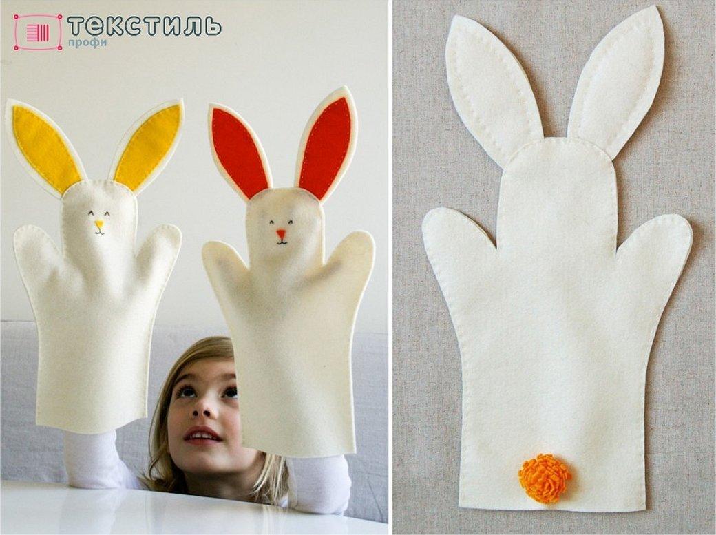 Зайчик для кукольного театра своими руками