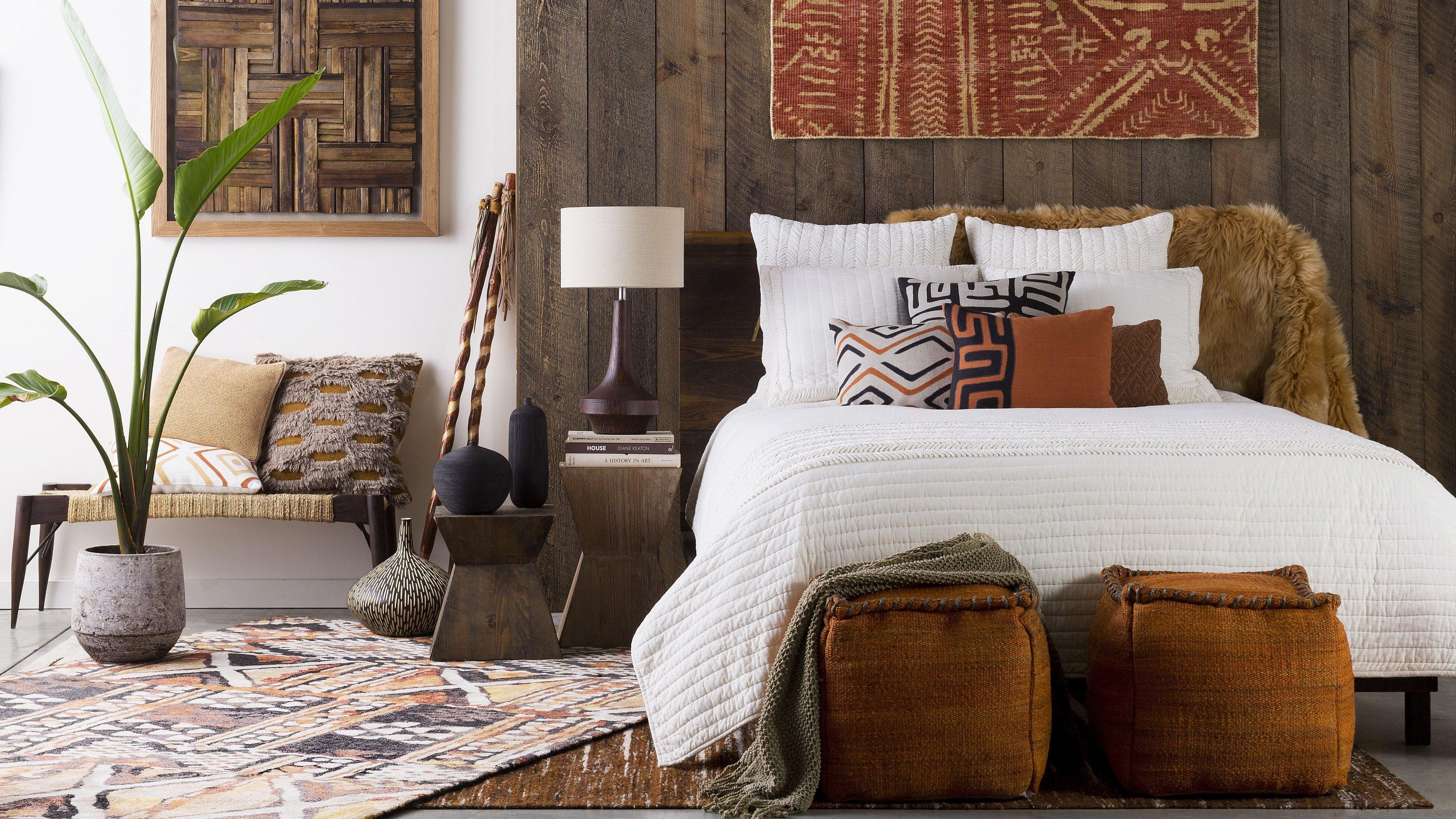 Декор для спальни в стиле этно